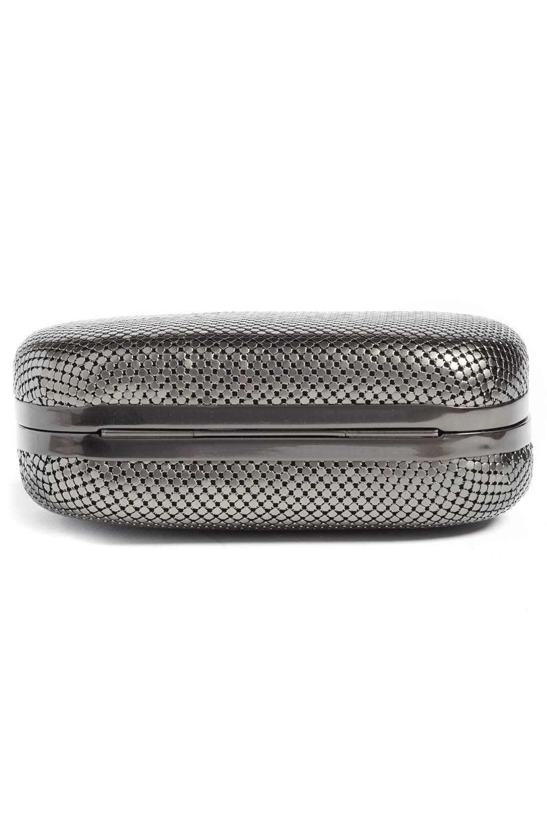 ,                             Mesh Oval Minaudière,                             Alternate thumbnail 6, color,                             GUNMETAL