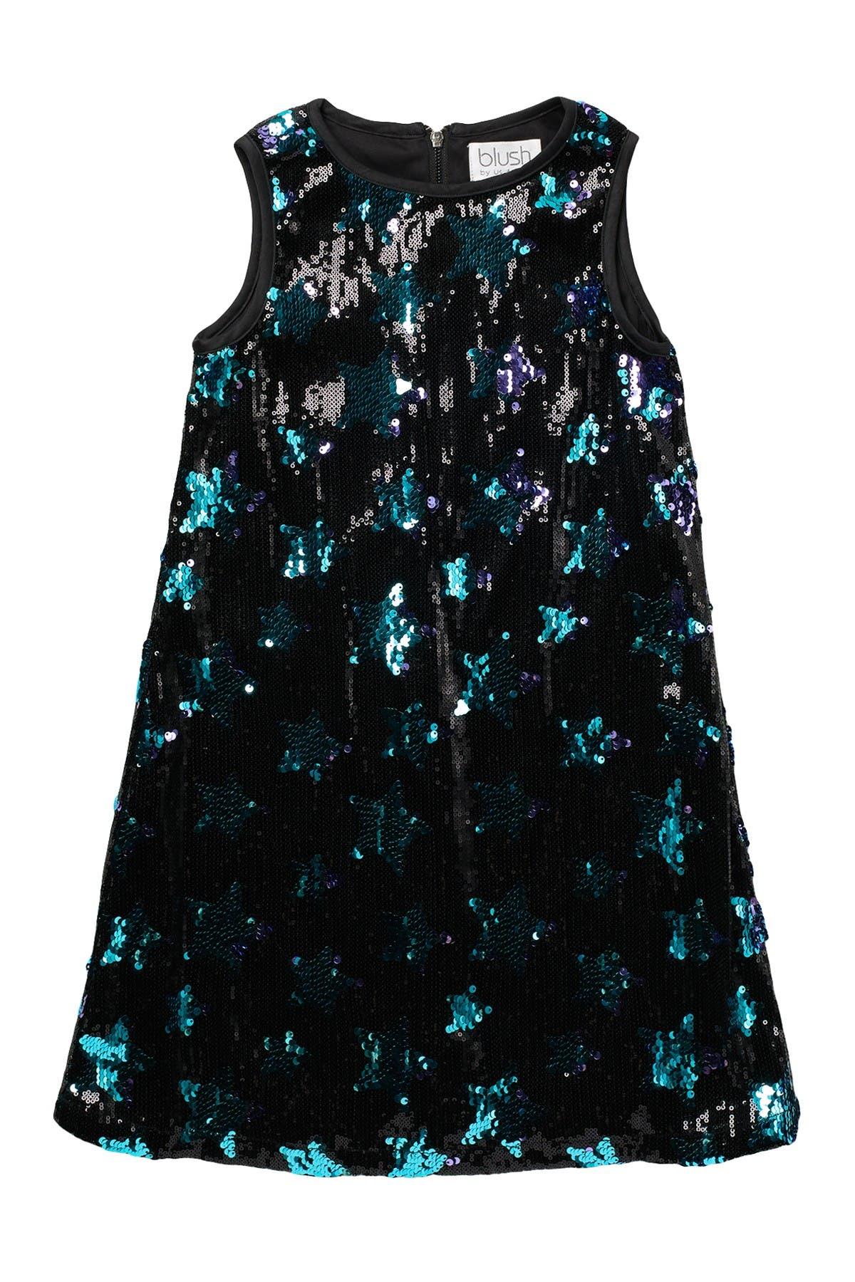 Image of Blush by Us Angels Sleeveless Sequin Sheath Dress