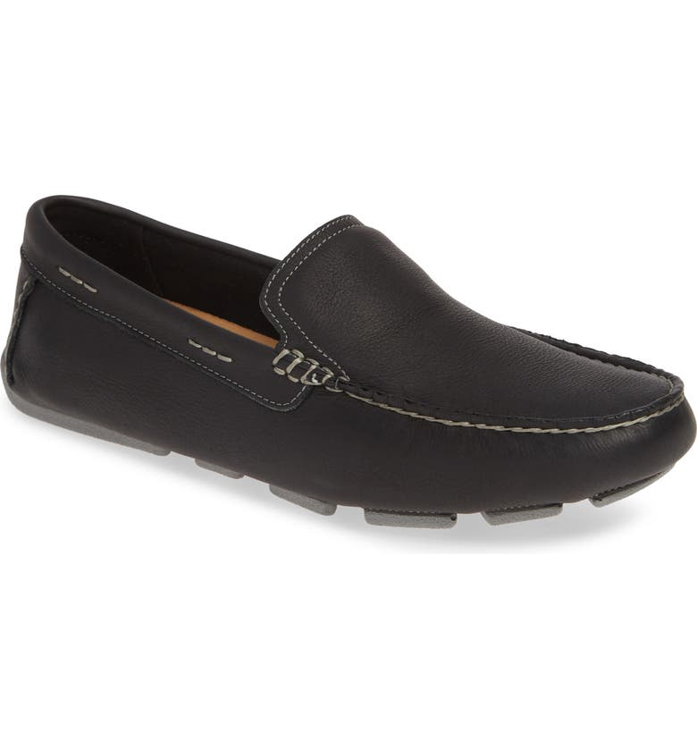 1901 Duke Driving Shoe, Main, color, BLACK LEATHER