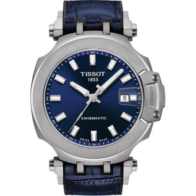 Tissot T-Sport Automatic Leather Strap Watch, 4m