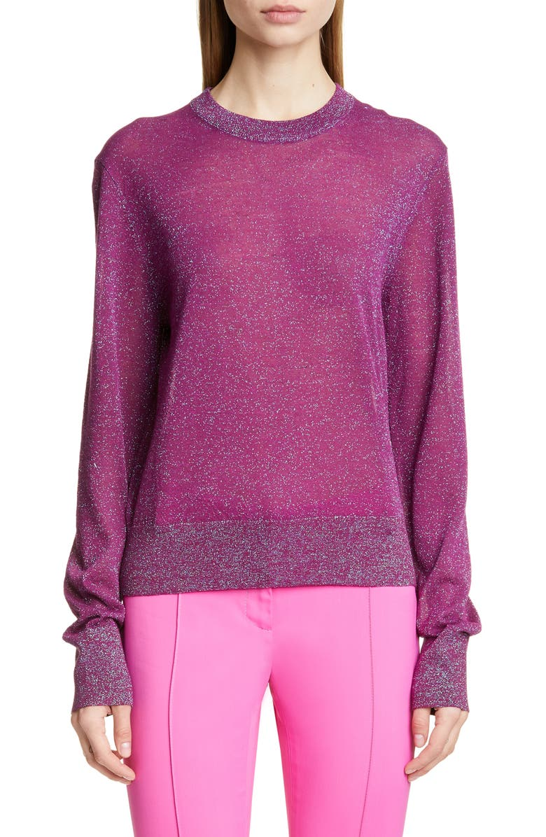 SIES MARJAN Sparkle Sweater, Main, color, PURPLE
