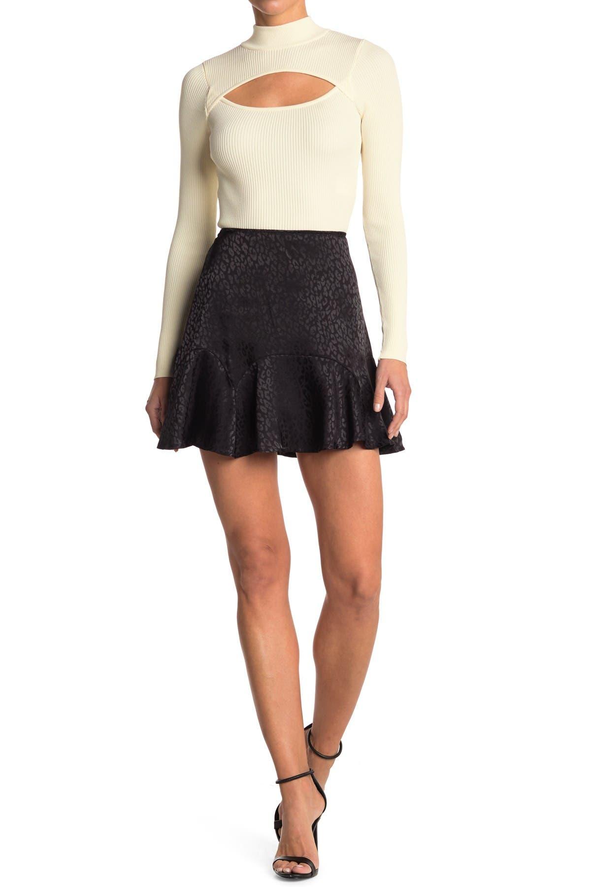 Image of ROW A Animal Flounce Hem Skirt
