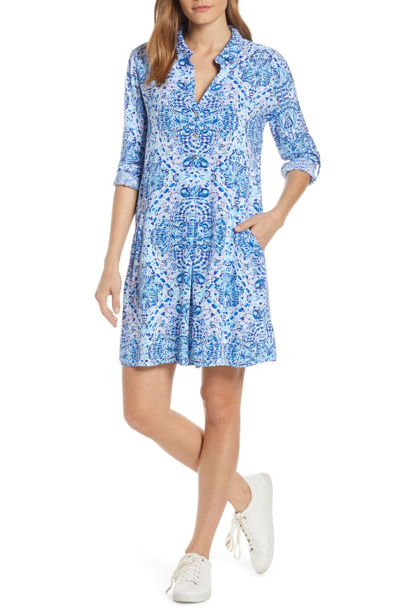 LILLY PULITZER<SUP>®</SUP> Lillith Shirtdress, Main, color, RESORT WHITE CALL MY SHELL