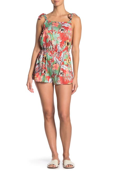 Image of The Bikini Lab Tropical Oasis Cover-Up Romper