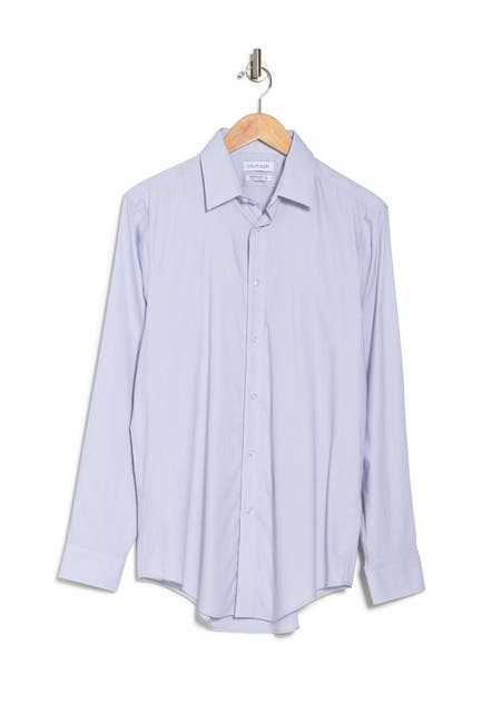 Image of Calvin Klein Long Sleeve Slim Fit Stretch Dress Shirt