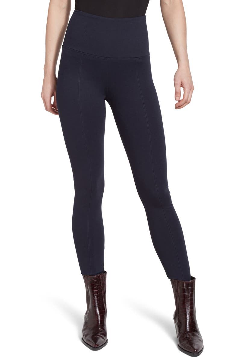 LYSSÉ Center Seam Ponte Leggings, Main, color, MIDNIGHT