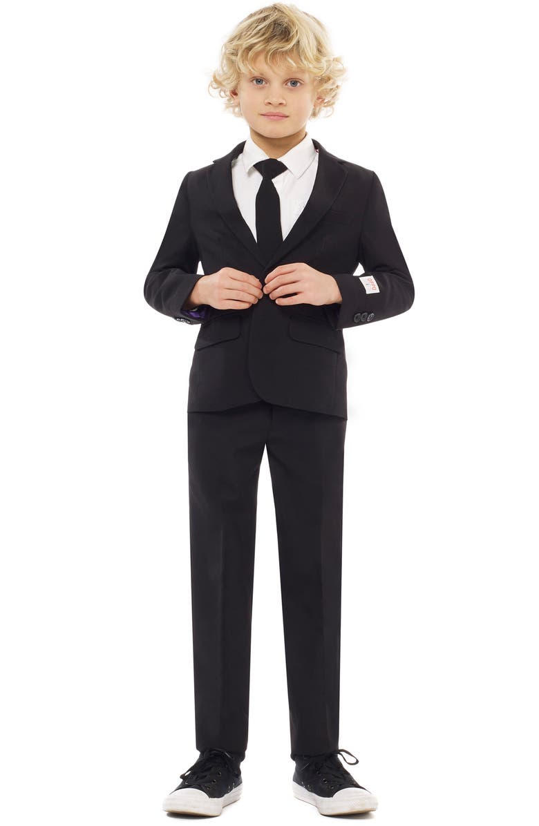 OPPOSUITS Knight Two-Piece Suit with Tie, Main, color, BLACK