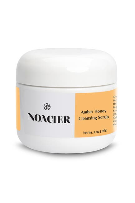 Image of Noacier Amber Honey Cleansing Scrub, Natural Anti-Aging and Moisturizing Exfoliant for Dry Sensitive Skin, 2oz/60g