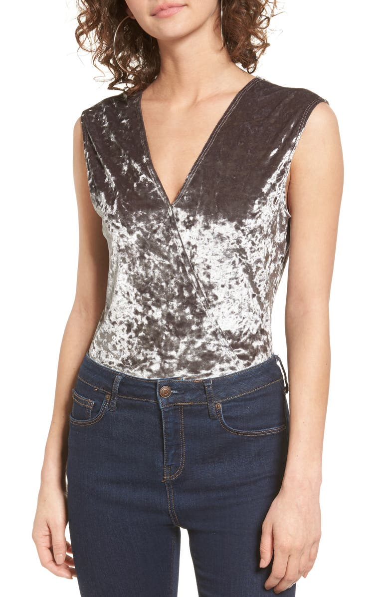 ZZDNU WILLOW & CLAY Willow & Clay Velvet Burnout Bodysuit, Main, color, 020