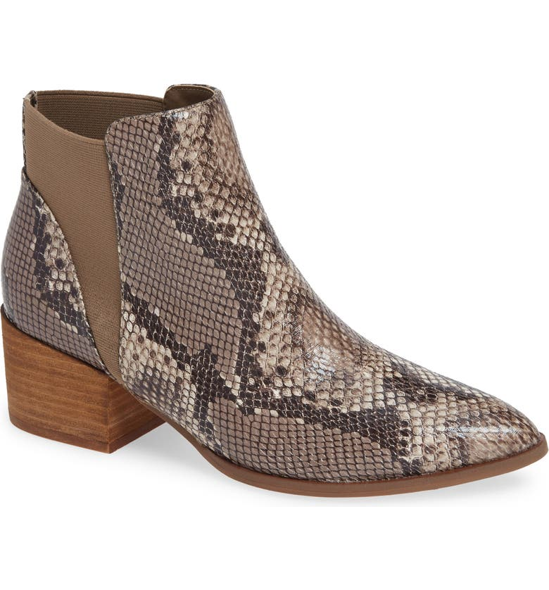 CHINESE LAUNDRY Finn Bootie, Main, color, BROWN SNAKE PRINT LEATHER
