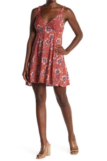 Image of Angie Floral V-Neck Sleeveless Sun Dress