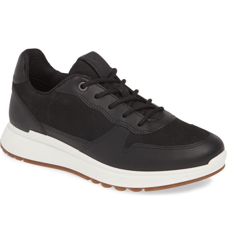 ECCO ST1 Sneaker, Main, color, BLACK LEATHER