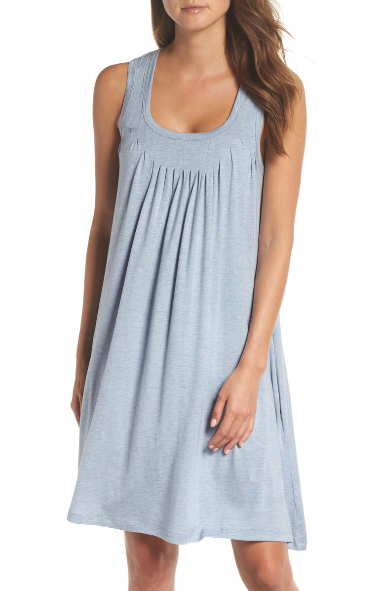 PAPINELLE Pleated Chemise, Main, color, POWDER BLUE