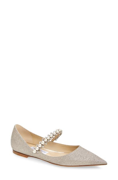 Jimmy Choo BAILY EMBELLISHED POINTED TOE FLAT