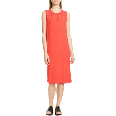 Petite Eileen Fisher Shift Dress, Red