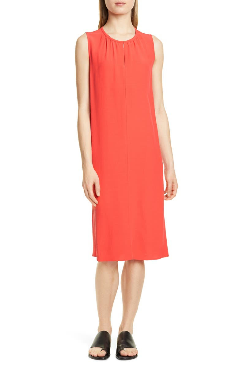 EILEEN FISHER Shift Dress, Main, color, RED LORY