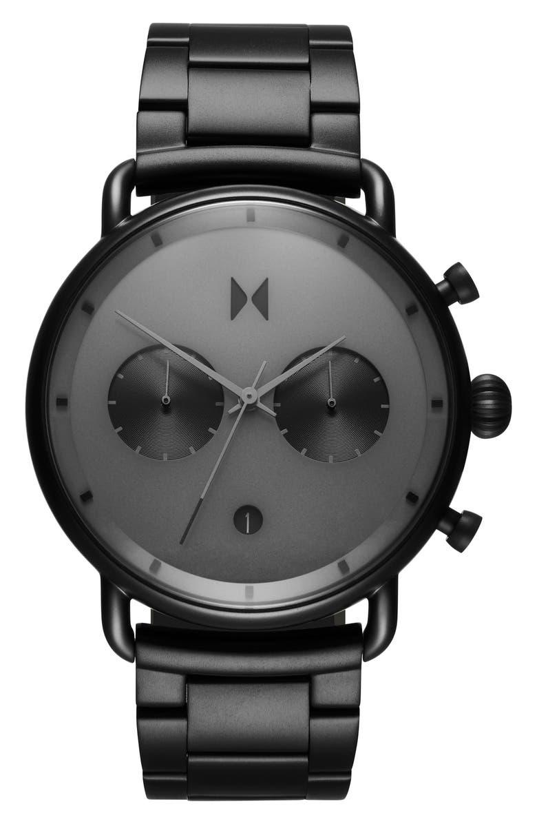 MVMT Blacktop Bracelet Watch, 47mm, Main, color, BLACK