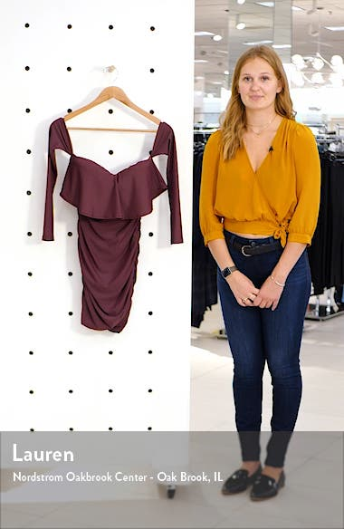 Kylie Long Sleeve Off the Shoulder Body-Con Dress, sales video thumbnail