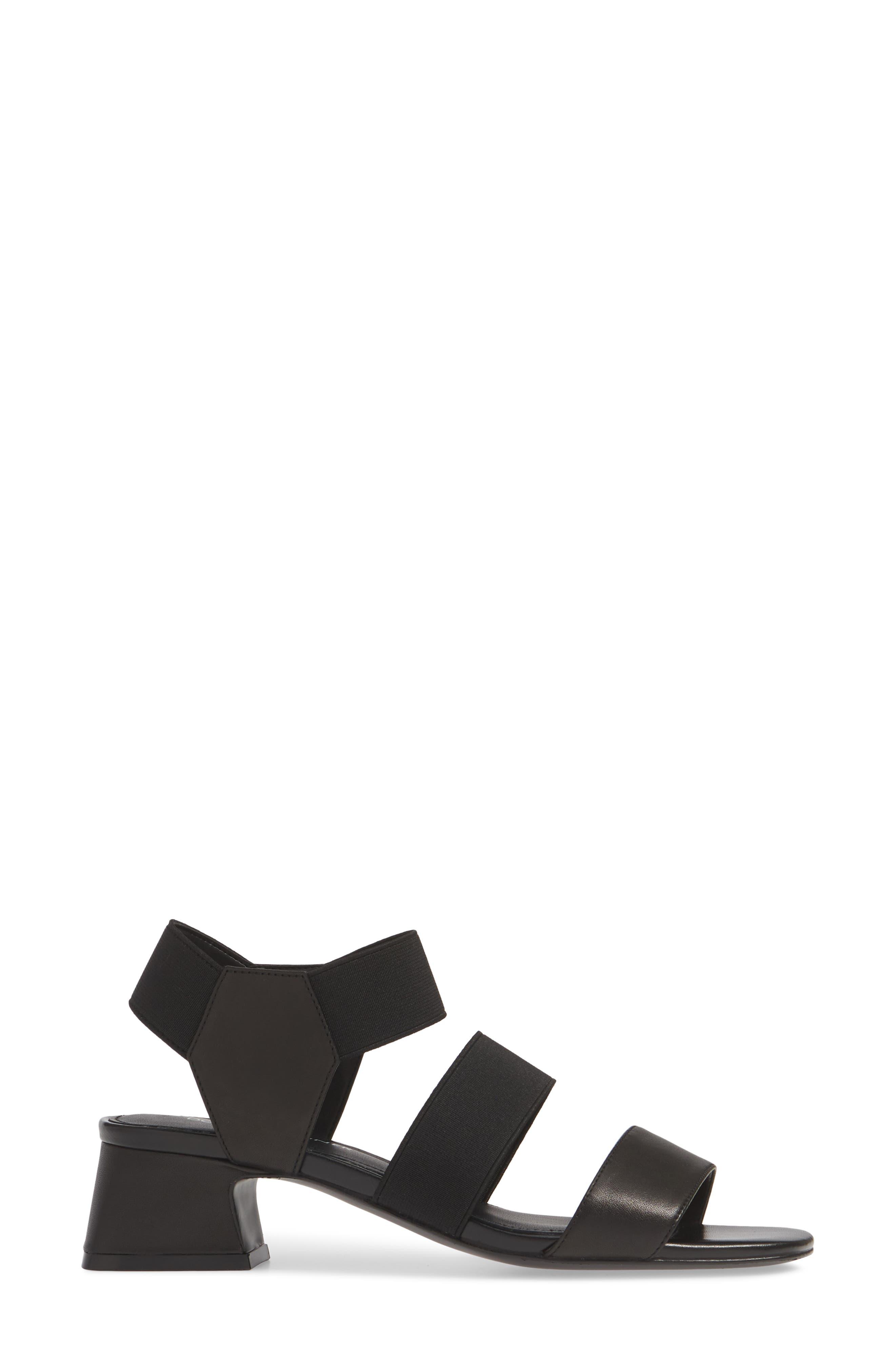 ,                             Britini Sandal,                             Alternate thumbnail 3, color,                             BLACK LEATHER/ FABRIC