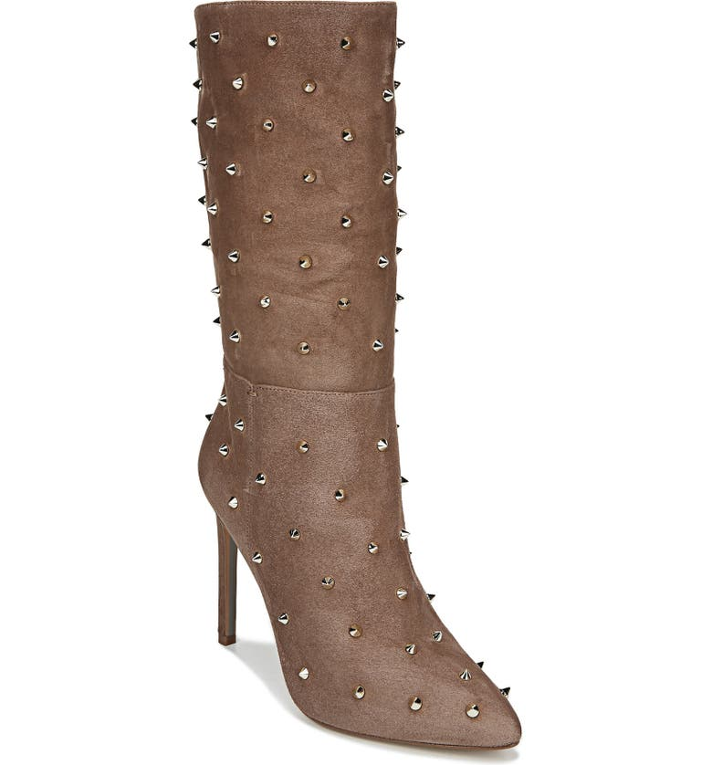 SAM EDELMAN Waylyn Studded Boot, Main, color, PRALINE SE SUEDE
