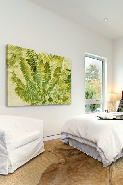 """Image of Marmont Hill Inc. Fern Fantasy I Painting Print on Wrapped Canvas - 36"""" x 24"""""""