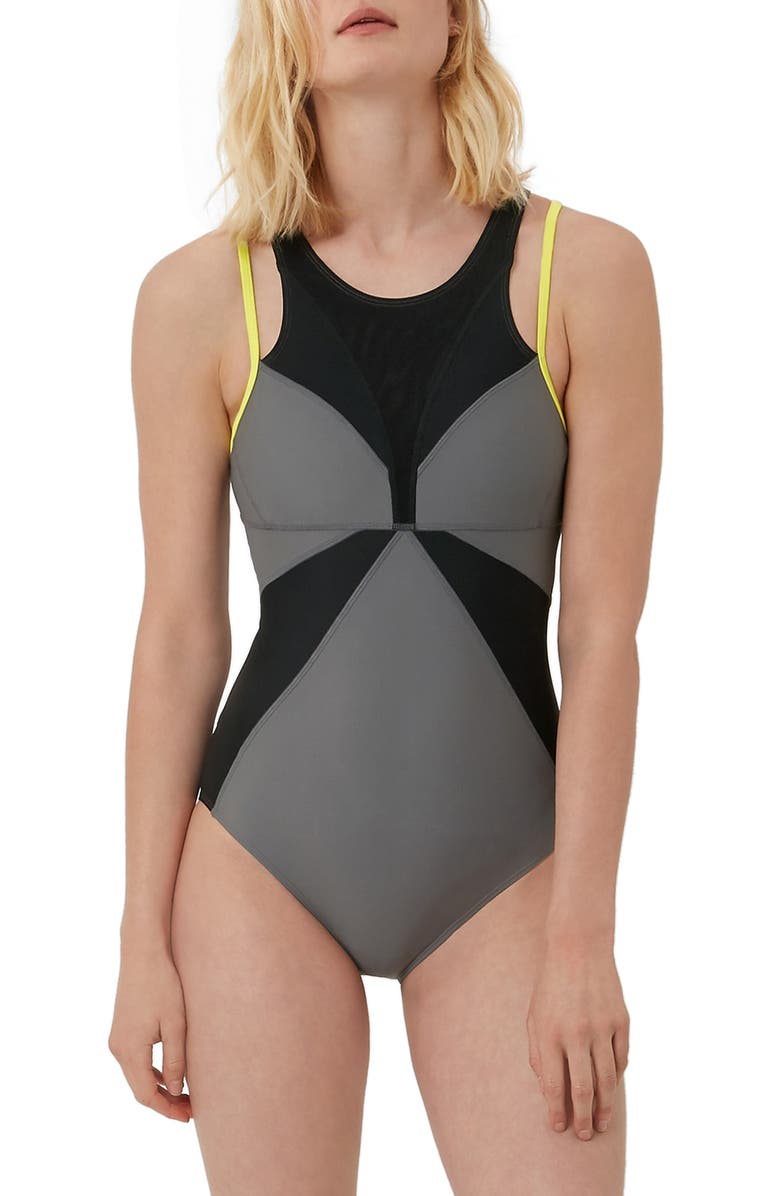 SWEATY BETTY Free Dive One-Piece Swimsuit, Main, color, 020