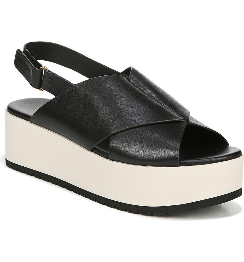 VINCE Jenaya Sport Platform Sandal, Main, color, BLACK