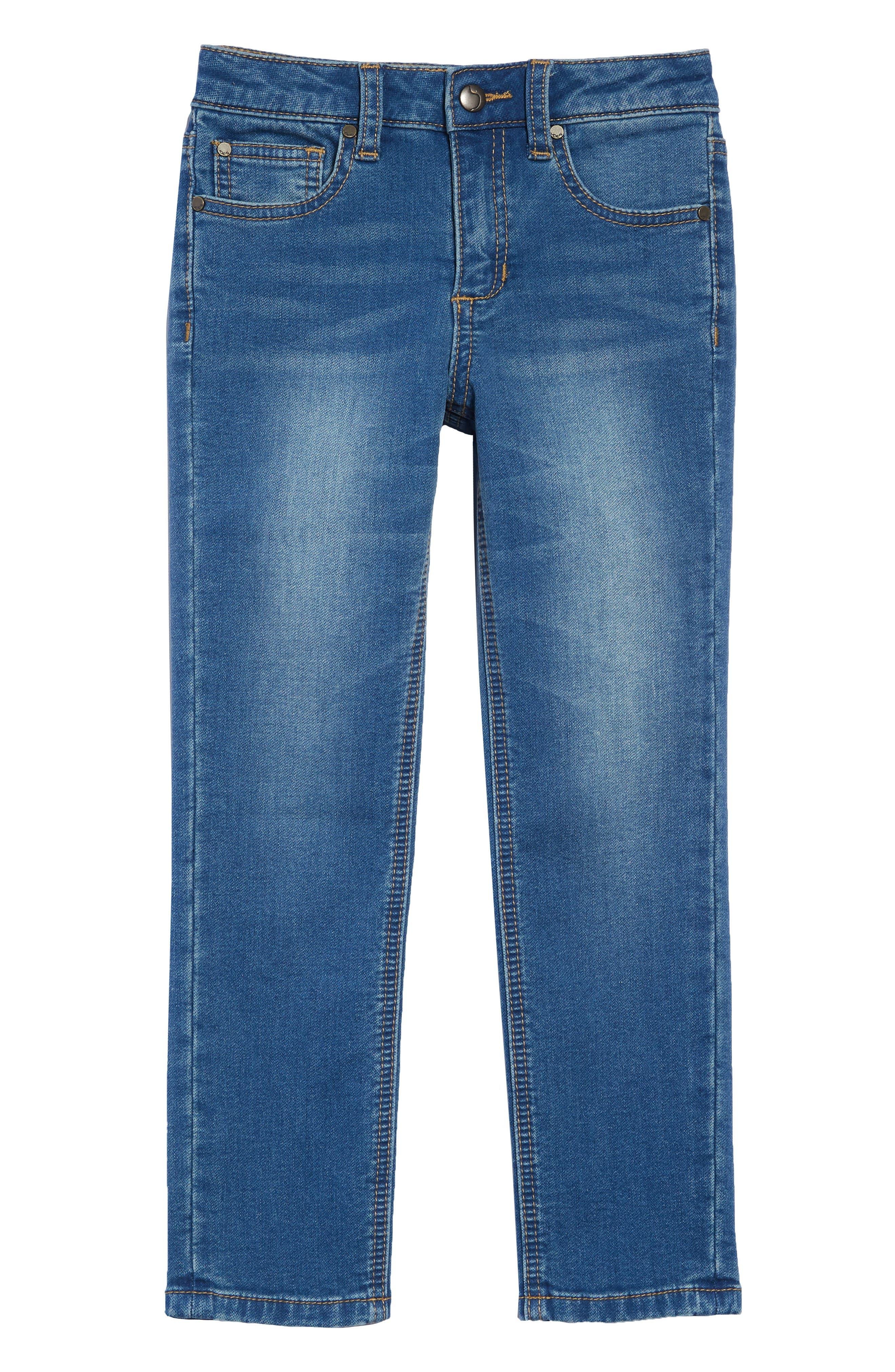 Boys Joes Brixton Straight Leg Knit Denim Jeans Size 10  Blue