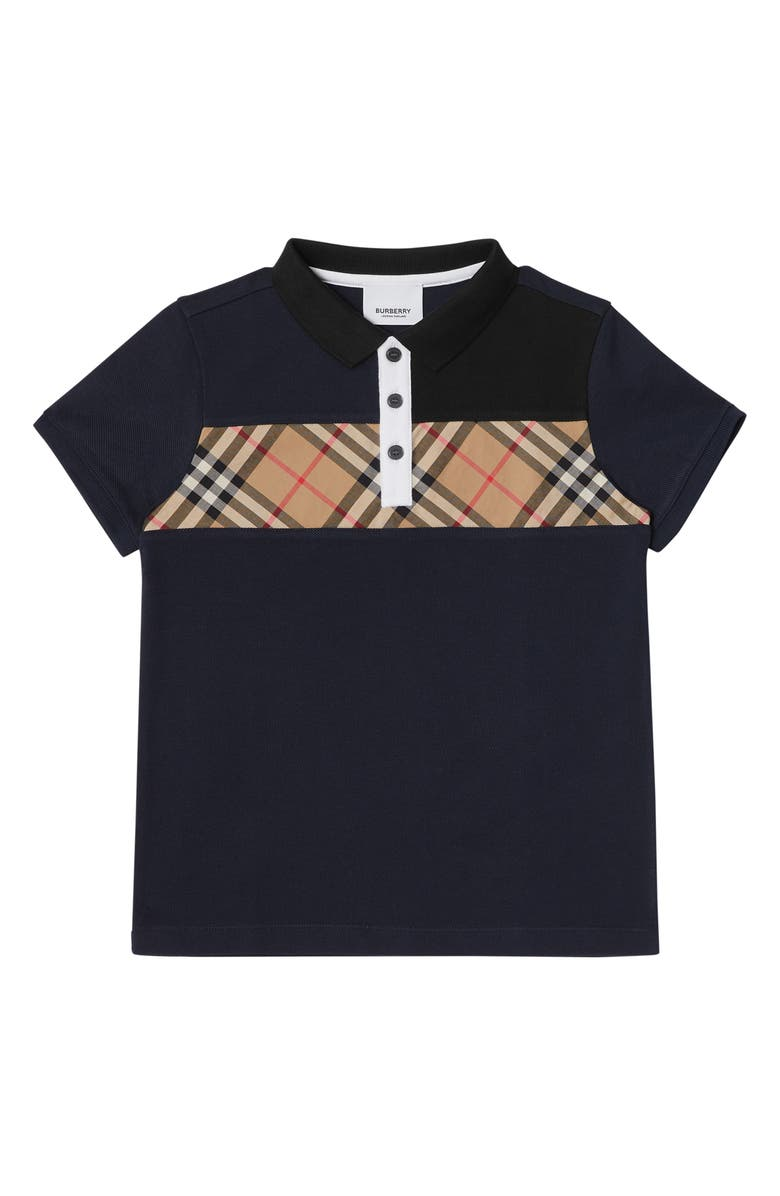 BURBERRY Jeff Polo, Main, color, NAVY