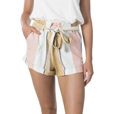 Rip Curl Sunsetters Stripe Paperbag Shorts, Brown
