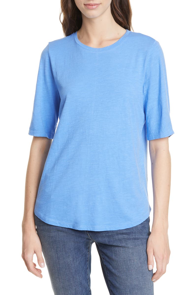 EILEEN FISHER Crewneck Tee, Main, color, HORIZON