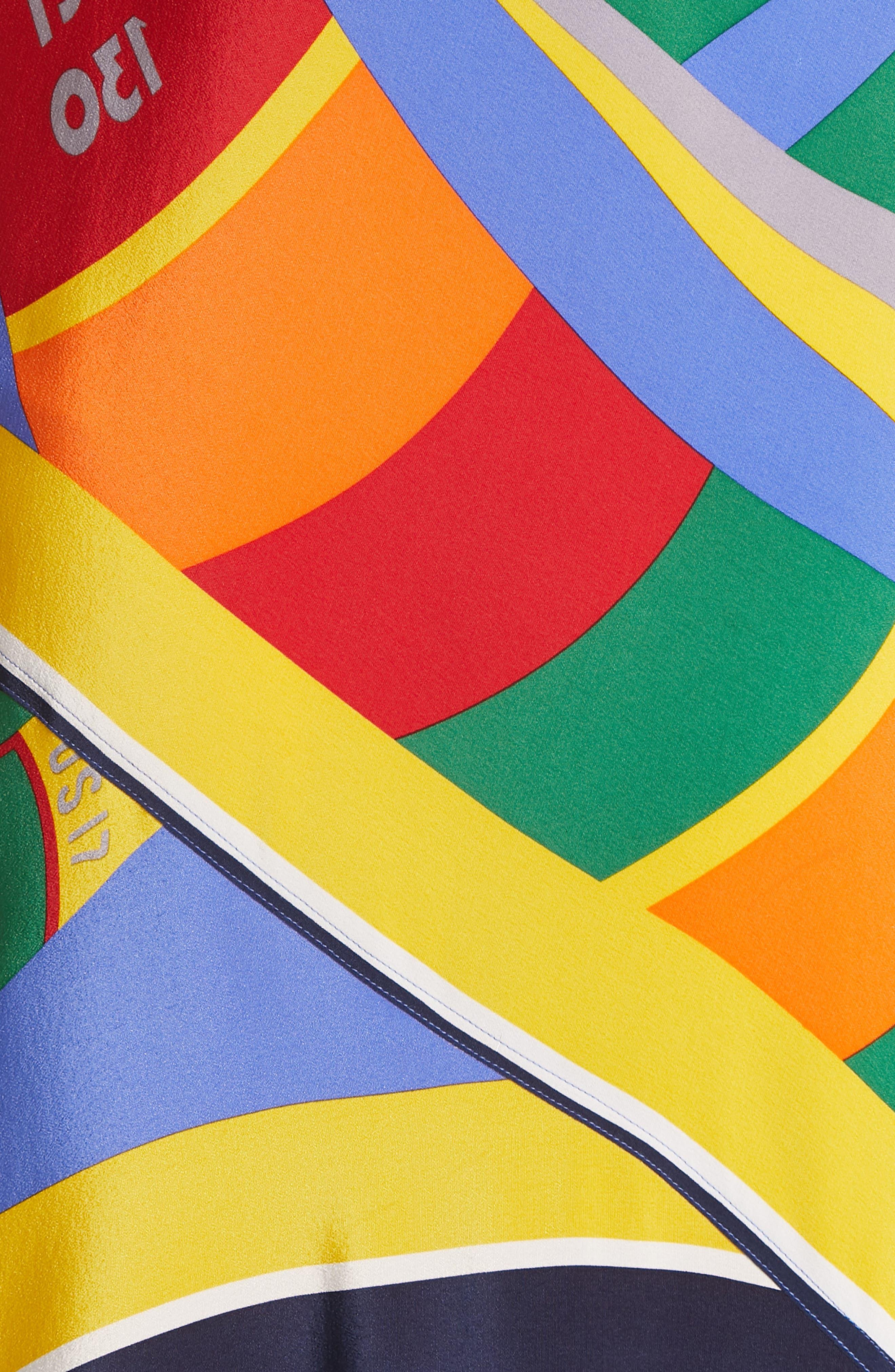 ,                             Sleeveless Silk Maxi Dress,                             Alternate thumbnail 6, color,                             WINDY SAILBOAT PRINT