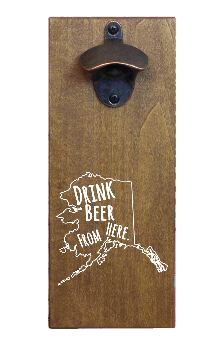 BeerCapTrap Drink Beer From Here State Wall Mount Bottle Opener