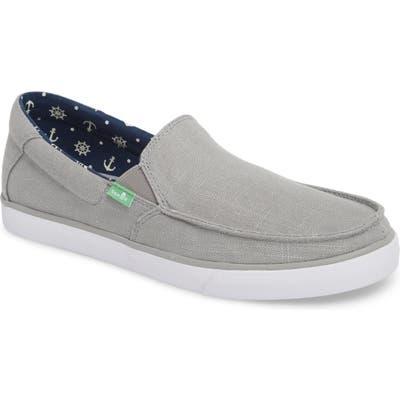 Sanuk Sideline Linen Slip-On, Grey