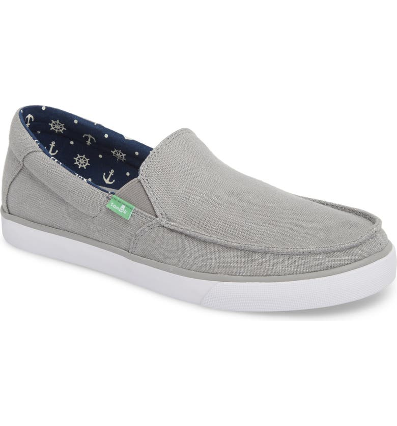 SANUK Sideline Linen Slip-On, Main, color, GREY