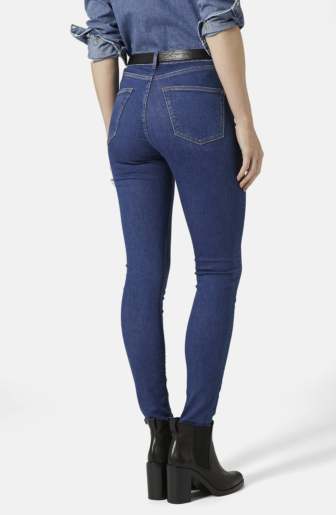 ,                             'Jamie' High Rise Crop Jeans,                             Alternate thumbnail 3, color,                             400