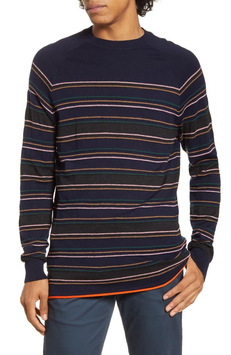 SCOTCH & SODA Regular Fit Stripe Crewneck Sweater, Main, color, 402