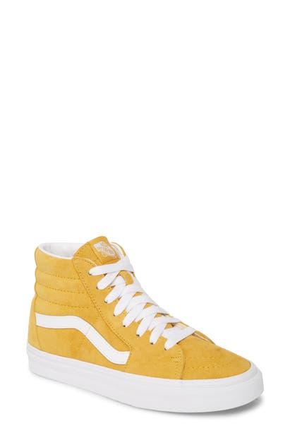 Sk8 hi Suede High Top Sneaker In Mango Mojito True White