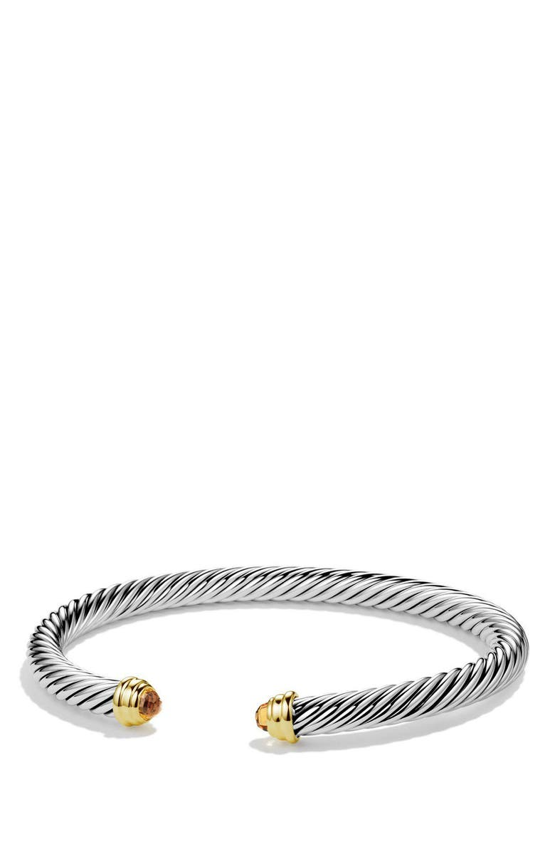 DAVID YURMAN Cable Classics Bracelet with Semiprecious Stones & 14K Gold, 5mm, Main, color, 000