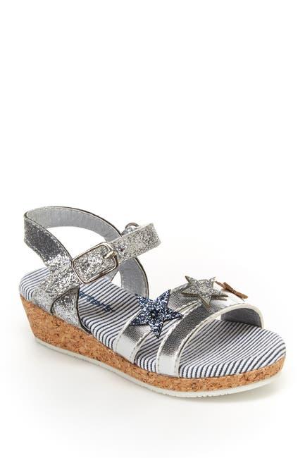 Image of Carter's Nabila Glitter Stars Wedge Sandal