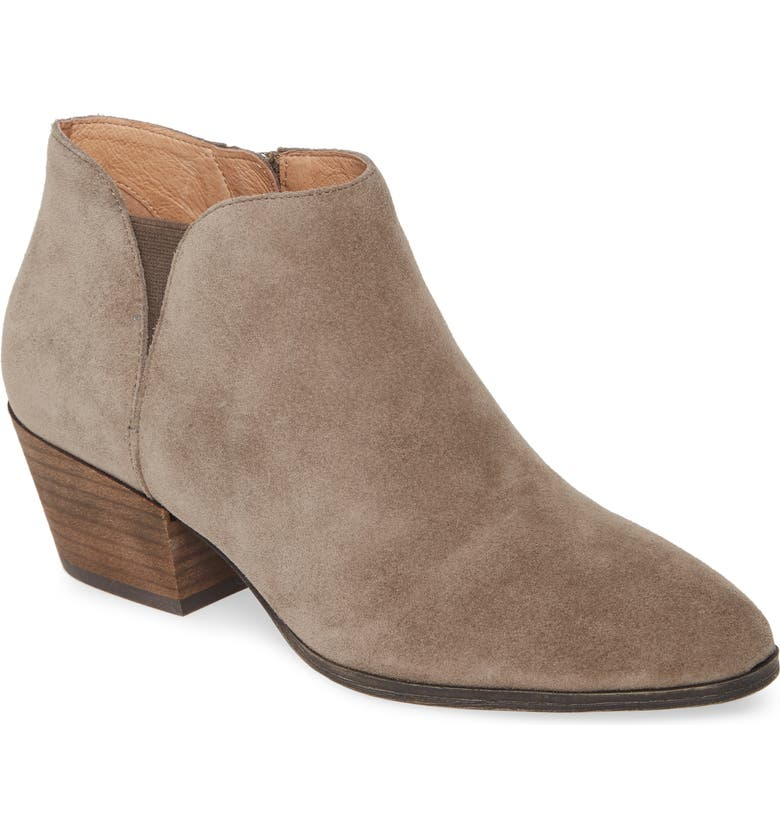CASLON<SUP>®</SUP> Nora Bootie, Main, color, TAUPE SUEDE