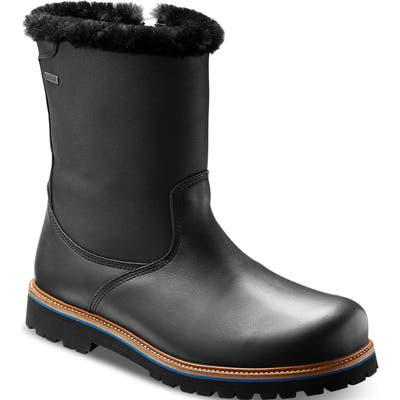 Samuel Hubbard Snow Lodge Waterproof Gore-Tex Genuine Shearling Lined Boot, Black