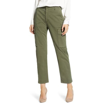 Citizens Of Humanity Gaia Stretch Twill Crop Cargo Pants, Green