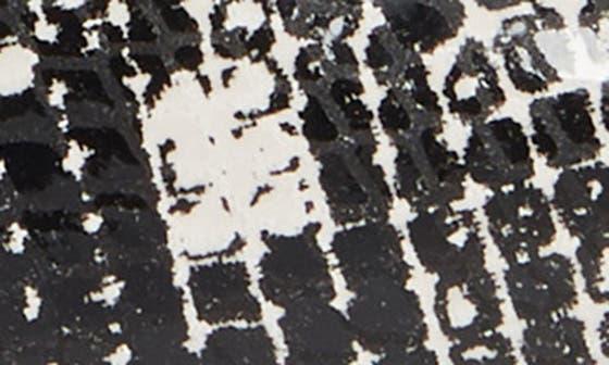 BLACK/ WHITE SNAKE PRINT