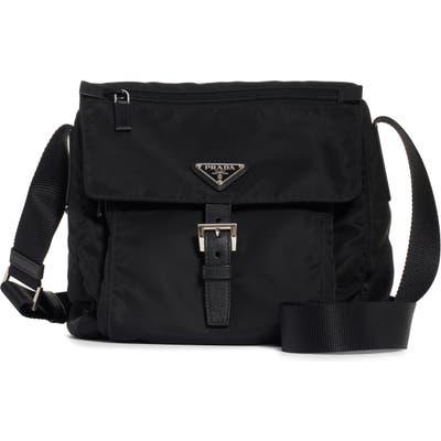 Prada Vela Nylon Messenger Bag - Black