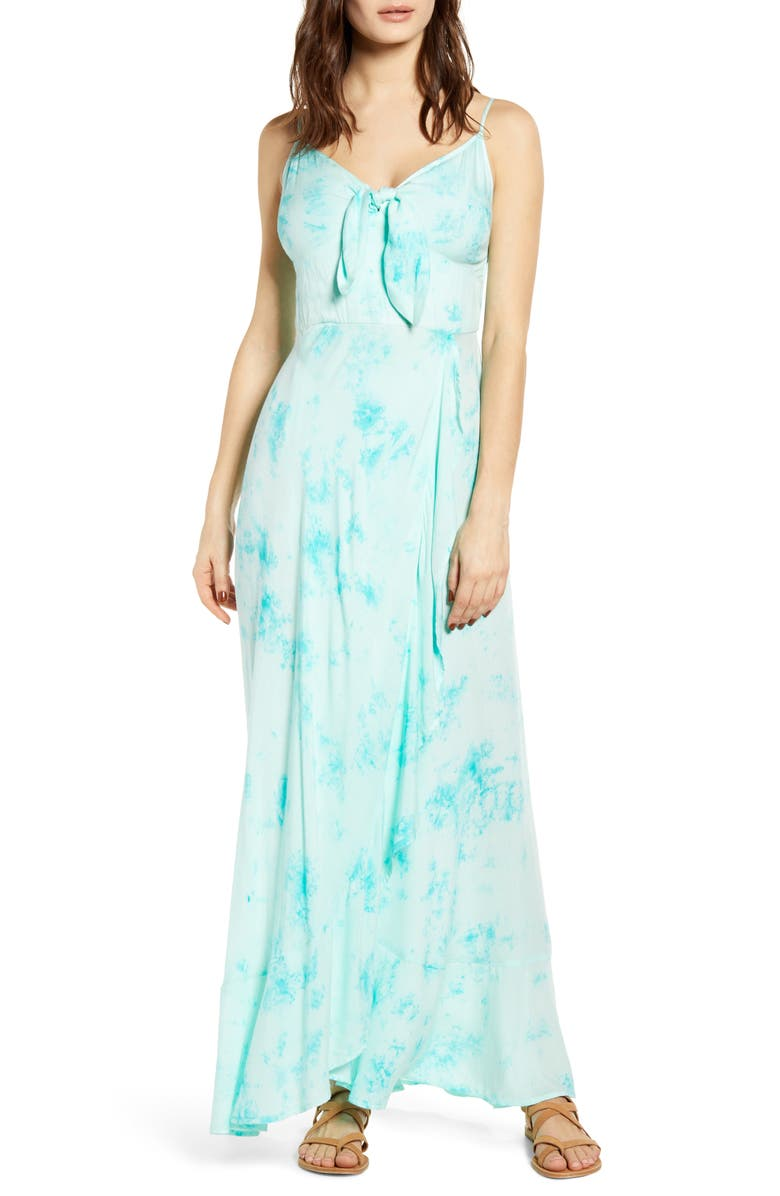 BAND OF GYPSIES Jade Tie Dye Maxi Dress, Main, color, 300