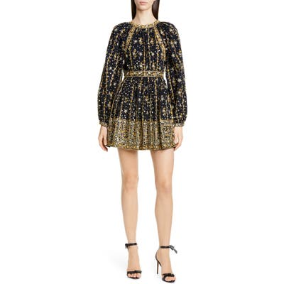 Ulla Johnson Daya Embellished Minidress, Black