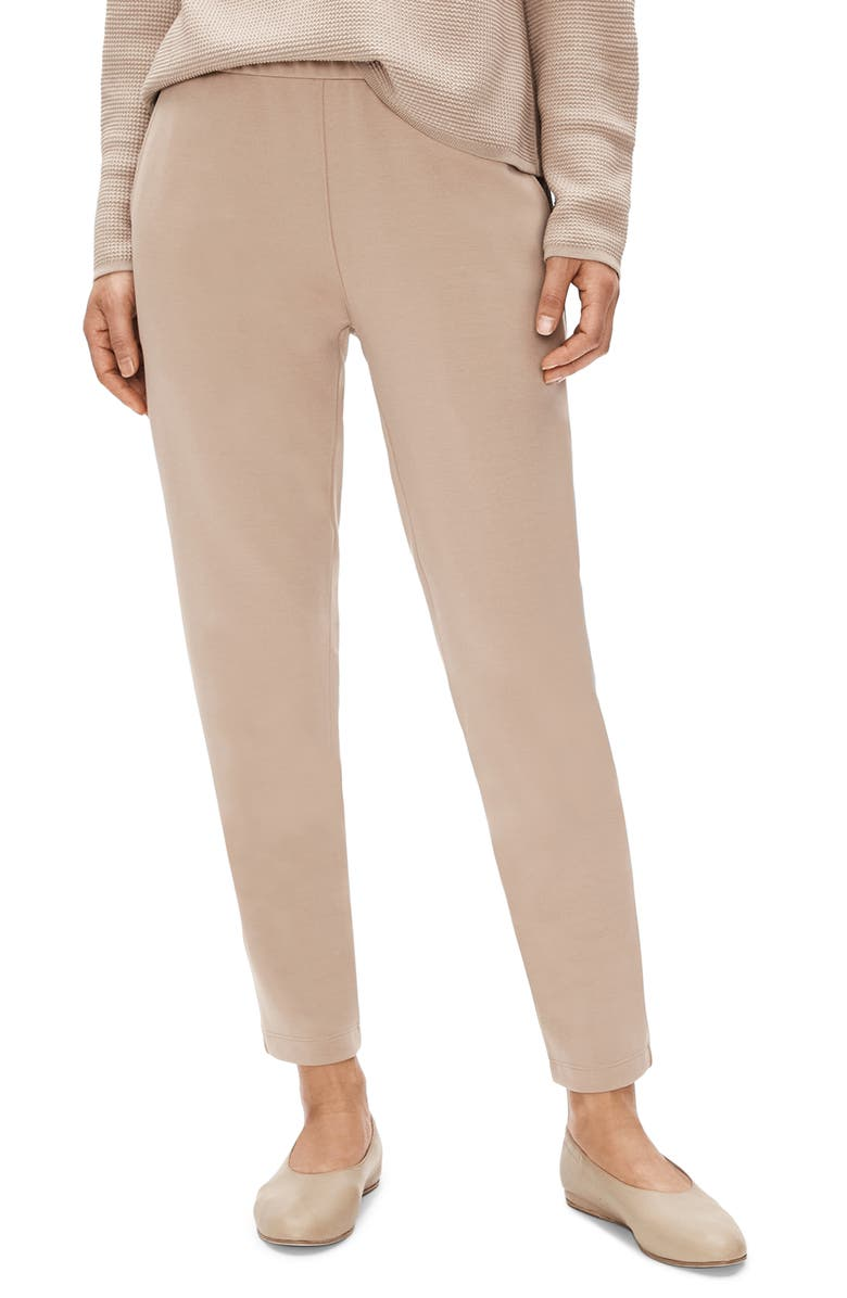 EILEEN FISHER Slouchy Tapered Ankle Pants, Main, color, BRAMBLE