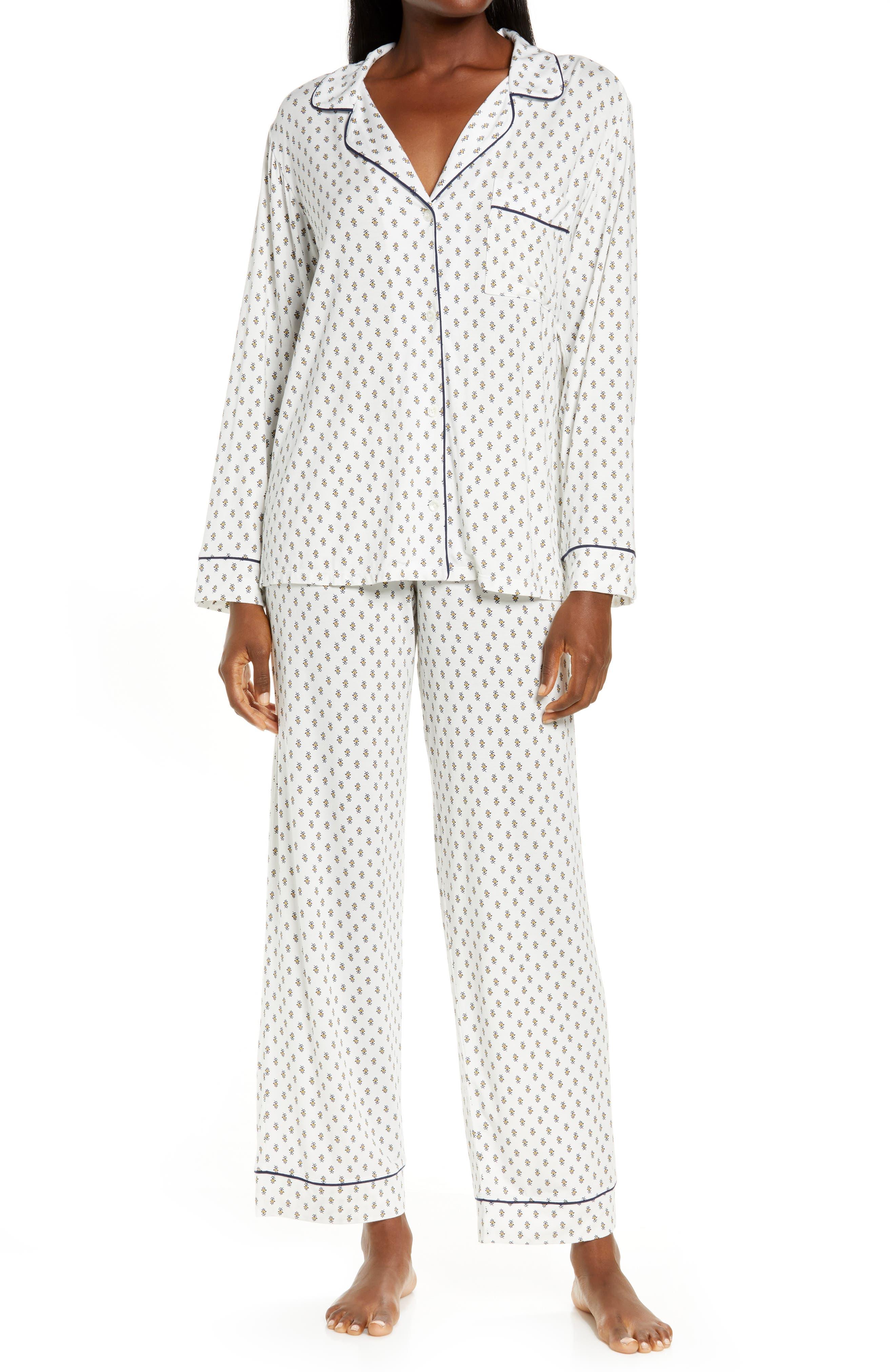 'Sleep Chic' Knit Pajamas