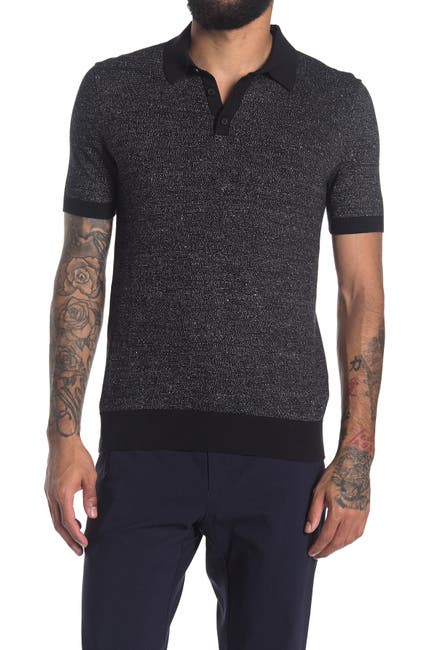 Image of Calvin Klein Short Sleeve Heathered Polo
